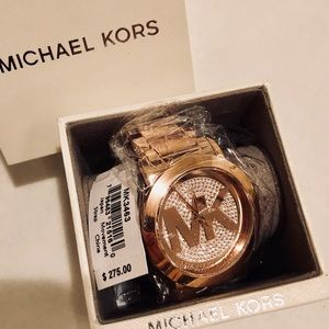 ❌RE STOCK ❌NWT MICHAEL KORS/ROSE GOLD WATCH